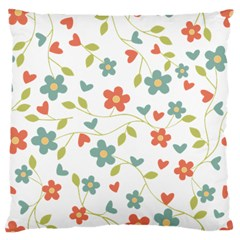 Abstract Vintage Flower Floral Pattern Large Cushion Case (two Sides)