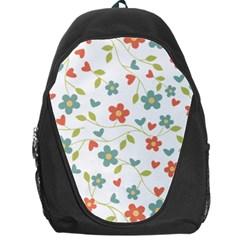 Abstract Vintage Flower Floral Pattern Backpack Bag