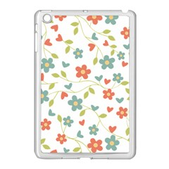 Abstract Vintage Flower Floral Pattern Apple Ipad Mini Case (white)