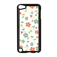Abstract Vintage Flower Floral Pattern Apple Ipod Touch 5 Case (black)