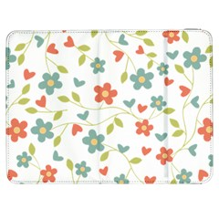 Abstract Vintage Flower Floral Pattern Samsung Galaxy Tab 7  P1000 Flip Case