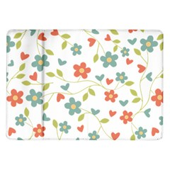 Abstract Vintage Flower Floral Pattern Samsung Galaxy Tab 10 1  P7500 Flip Case