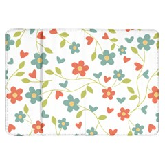 Abstract Vintage Flower Floral Pattern Samsung Galaxy Tab 8 9  P7300 Flip Case