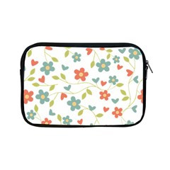 Abstract Vintage Flower Floral Pattern Apple Ipad Mini Zipper Cases
