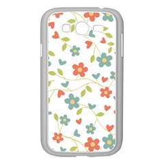 Abstract Vintage Flower Floral Pattern Samsung Galaxy Grand Duos I9082 Case (white)