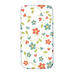 Abstract Vintage Flower Floral Pattern Samsung Galaxy S4 I9500/i9505  Hardshell Back Case