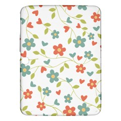 Abstract Vintage Flower Floral Pattern Samsung Galaxy Tab 3 (10 1 ) P5200 Hardshell Case