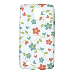 Abstract Vintage Flower Floral Pattern Galaxy S4 Active
