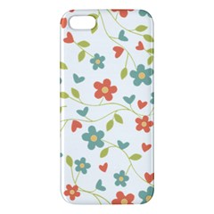 Abstract Vintage Flower Floral Pattern Iphone 5s/ Se Premium Hardshell Case