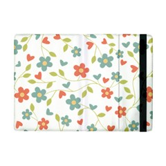 Abstract Vintage Flower Floral Pattern Ipad Mini 2 Flip Cases