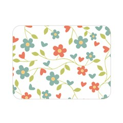 Abstract Vintage Flower Floral Pattern Double Sided Flano Blanket (mini)