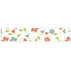 Abstract Vintage Flower Floral Pattern Flano Scarf (large)