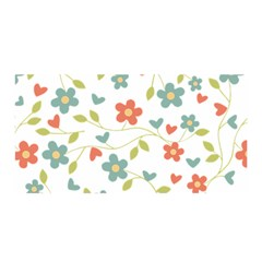 Abstract Vintage Flower Floral Pattern Satin Wrap