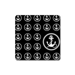 Anchor Pattern Square Magnet