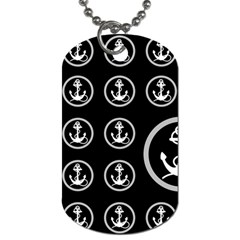 Anchor Pattern Dog Tag (two Sides)