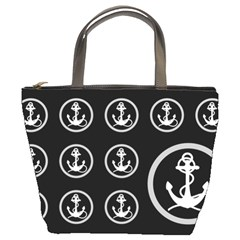 Anchor Pattern Bucket Bags