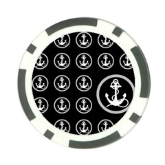 Anchor Pattern Poker Chip Card Guard (10 Pack)