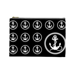 Anchor Pattern Cosmetic Bag (large)