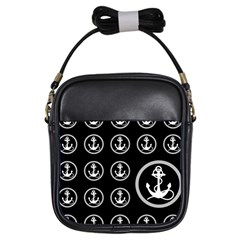 Anchor Pattern Girls Sling Bags