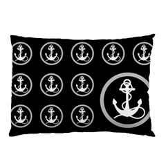 Anchor Pattern Pillow Case (two Sides)