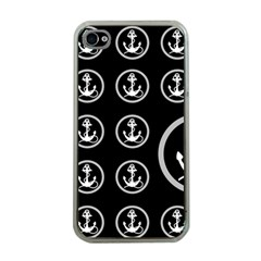 Anchor Pattern Apple Iphone 4 Case (clear)