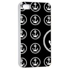 Anchor Pattern Apple Iphone 4/4s Seamless Case (white)