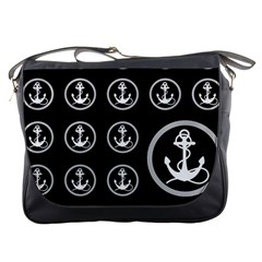 Anchor Pattern Messenger Bags