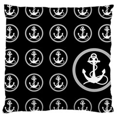 Anchor Pattern Large Cushion Case (one Side)