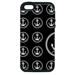 Anchor Pattern Apple Iphone 5 Hardshell Case (pc+silicone)