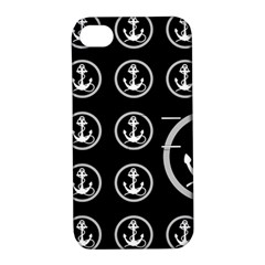 Anchor Pattern Apple Iphone 4/4s Hardshell Case With Stand