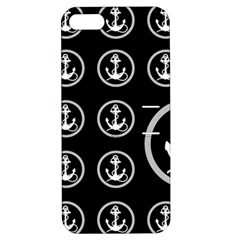 Anchor Pattern Apple Iphone 5 Hardshell Case With Stand