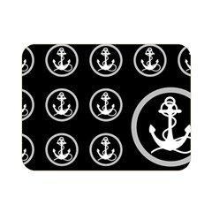 Anchor Pattern Double Sided Flano Blanket (Mini)