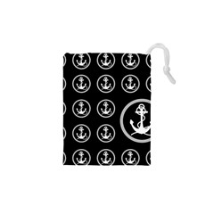 Anchor Pattern Drawstring Pouches (xs)