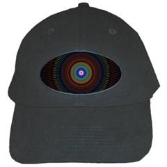 Artskop Kaleidoscope Pattern Ornamen Mantra Black Cap