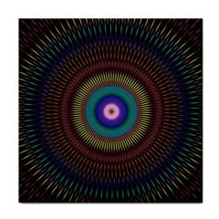 Artskop Kaleidoscope Pattern Ornamen Mantra Tile Coasters