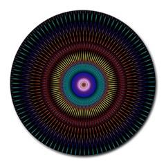 Artskop Kaleidoscope Pattern Ornamen Mantra Round Mousepads