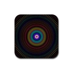 Artskop Kaleidoscope Pattern Ornamen Mantra Rubber Coaster (Square)