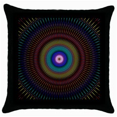 Artskop Kaleidoscope Pattern Ornamen Mantra Throw Pillow Case (black)