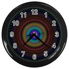 Artskop Kaleidoscope Pattern Ornamen Mantra Wall Clocks (black)