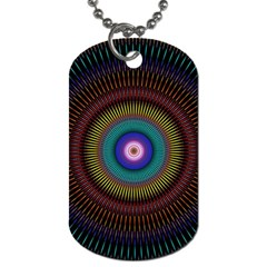 Artskop Kaleidoscope Pattern Ornamen Mantra Dog Tag (one Side)