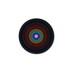 Artskop Kaleidoscope Pattern Ornamen Mantra Golf Ball Marker