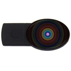 Artskop Kaleidoscope Pattern Ornamen Mantra Usb Flash Drive Oval (4 Gb)