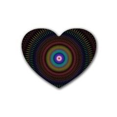 Artskop Kaleidoscope Pattern Ornamen Mantra Rubber Coaster (heart)