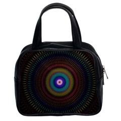 Artskop Kaleidoscope Pattern Ornamen Mantra Classic Handbags (2 Sides)