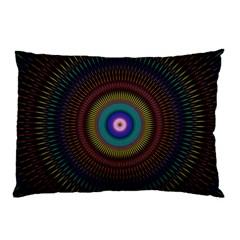 Artskop Kaleidoscope Pattern Ornamen Mantra Pillow Case