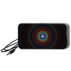 Artskop Kaleidoscope Pattern Ornamen Mantra Portable Speaker (black)