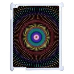Artskop Kaleidoscope Pattern Ornamen Mantra Apple Ipad 2 Case (white)