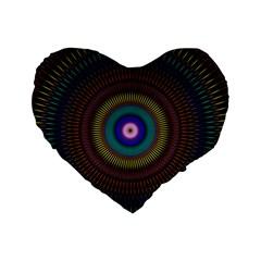 Artskop Kaleidoscope Pattern Ornamen Mantra Standard 16  Premium Heart Shape Cushions