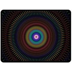 Artskop Kaleidoscope Pattern Ornamen Mantra Double Sided Fleece Blanket (large)