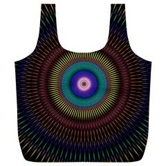 Artskop Kaleidoscope Pattern Ornamen Mantra Full Print Recycle Bags (l)